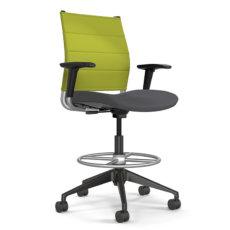 wit midback stool apple thintex nickel mesh