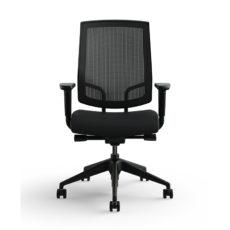 focus work task chair black base medium raven front med res Thumbnail