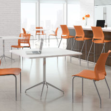 lumin carotene silver frame armless cafe stool environment Thumbnail