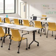 lumin honeycomb shell black frame arms casters classroom environment Thumbnail