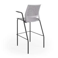 lumin stool sterling shell black frame arms 3qtr back Thumbnail