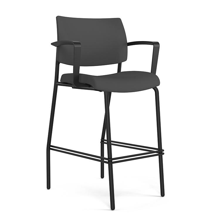 focus side stool upholstered black frame soi spice carob 3qf