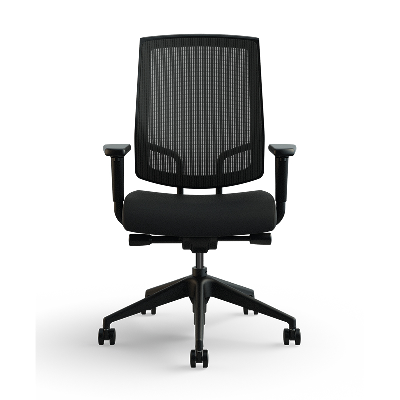 focus work task chair black base medium raven front med res