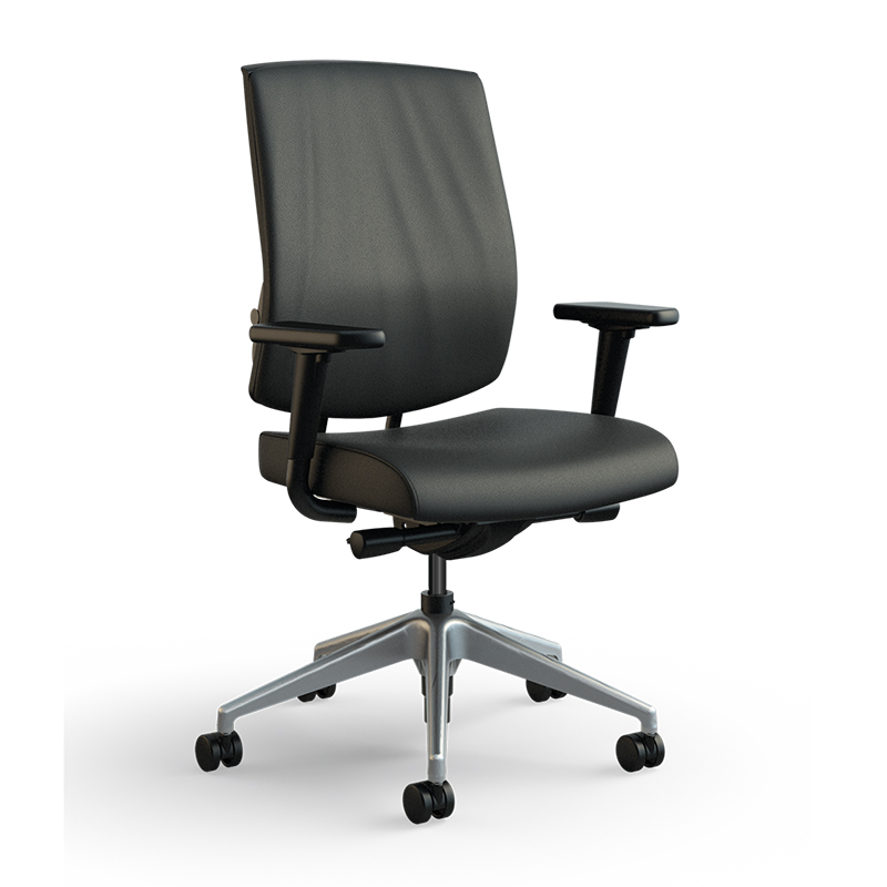focus work task chair volo black 3qfront med res