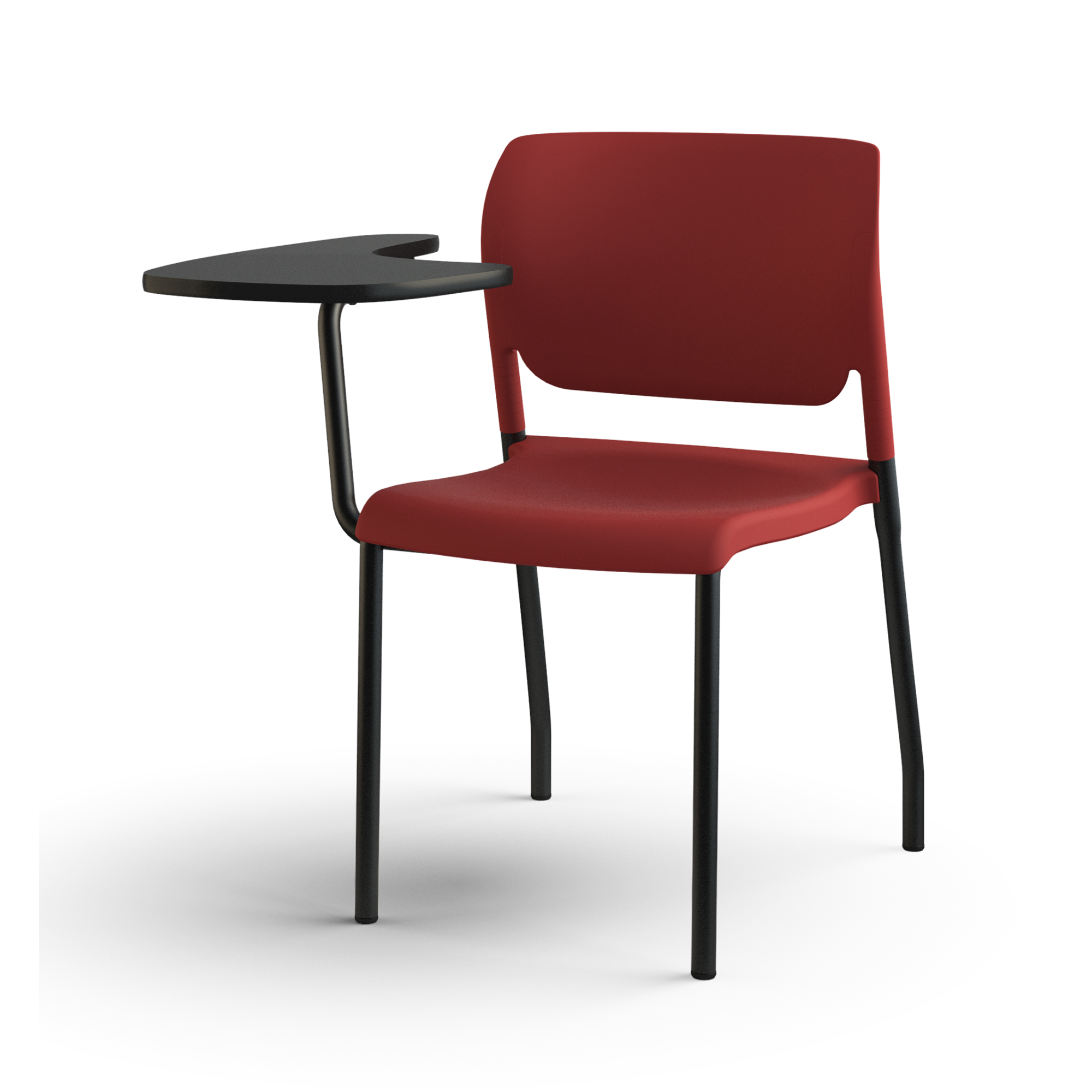 inflex multipurpose chair tablet red 3qfront gallery