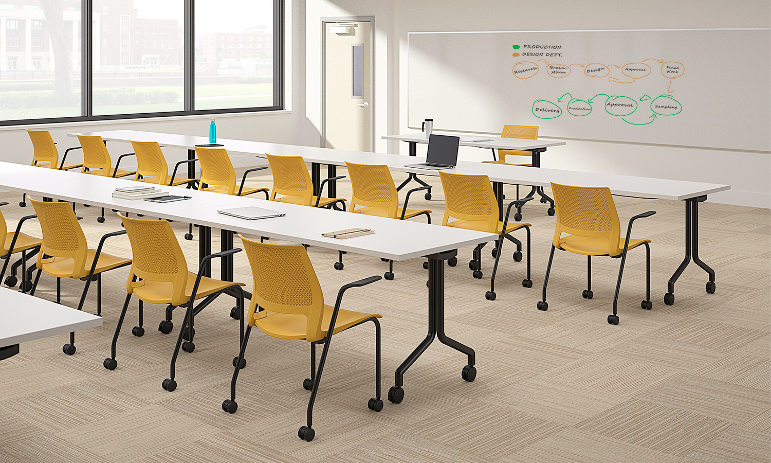 lumin honeycomb shell black frame arms casters classroom environment